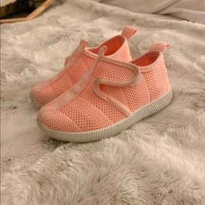 Pink BEBE toddler sneakers